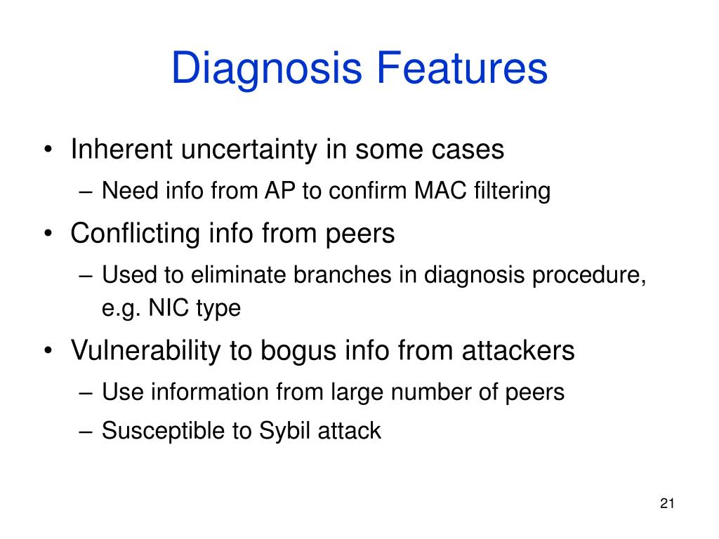 Diagnosis Features