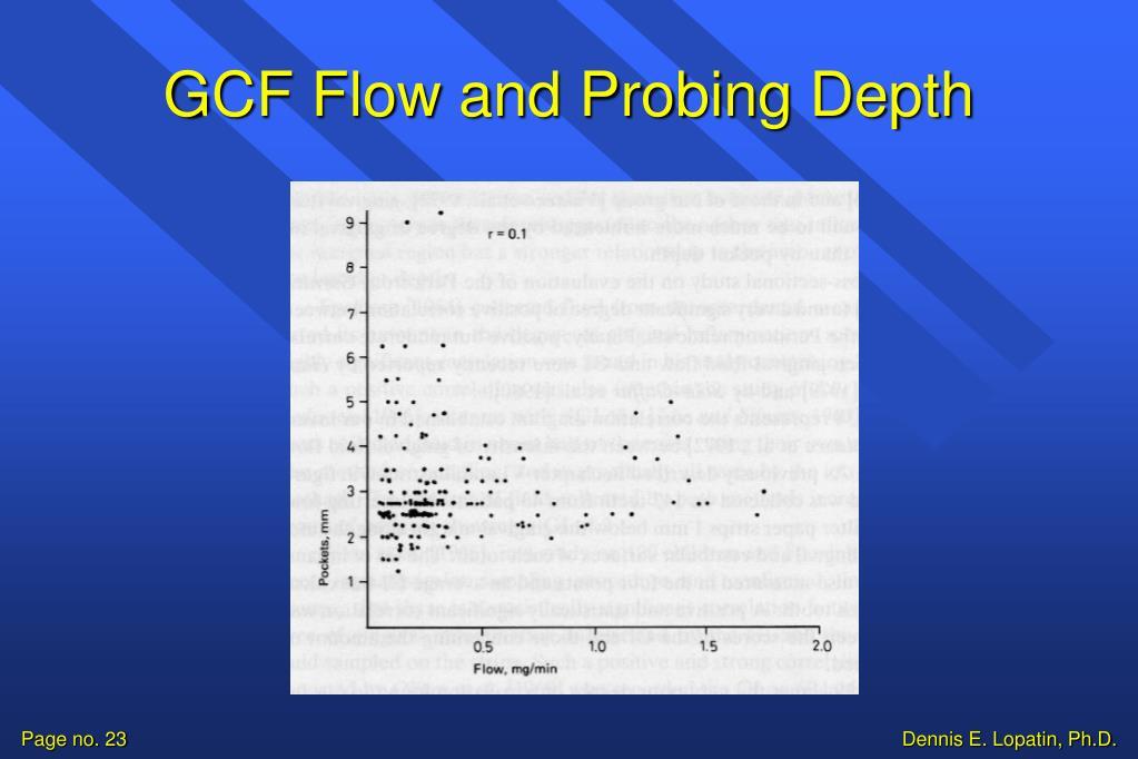 GCF Flow and Probing Depth