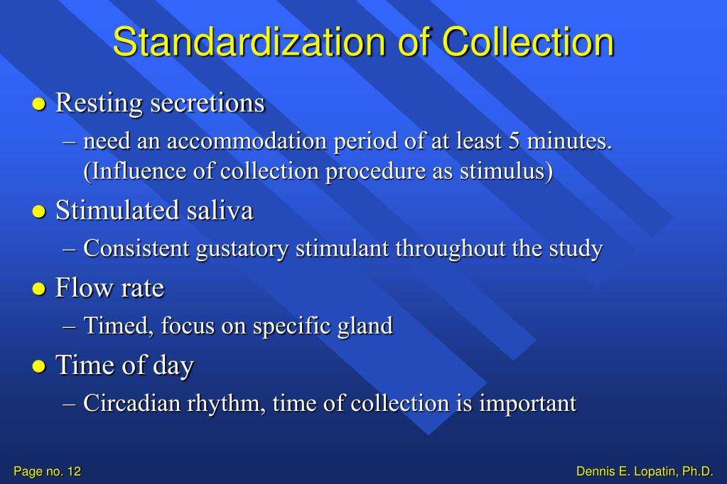 Standardization of Collection