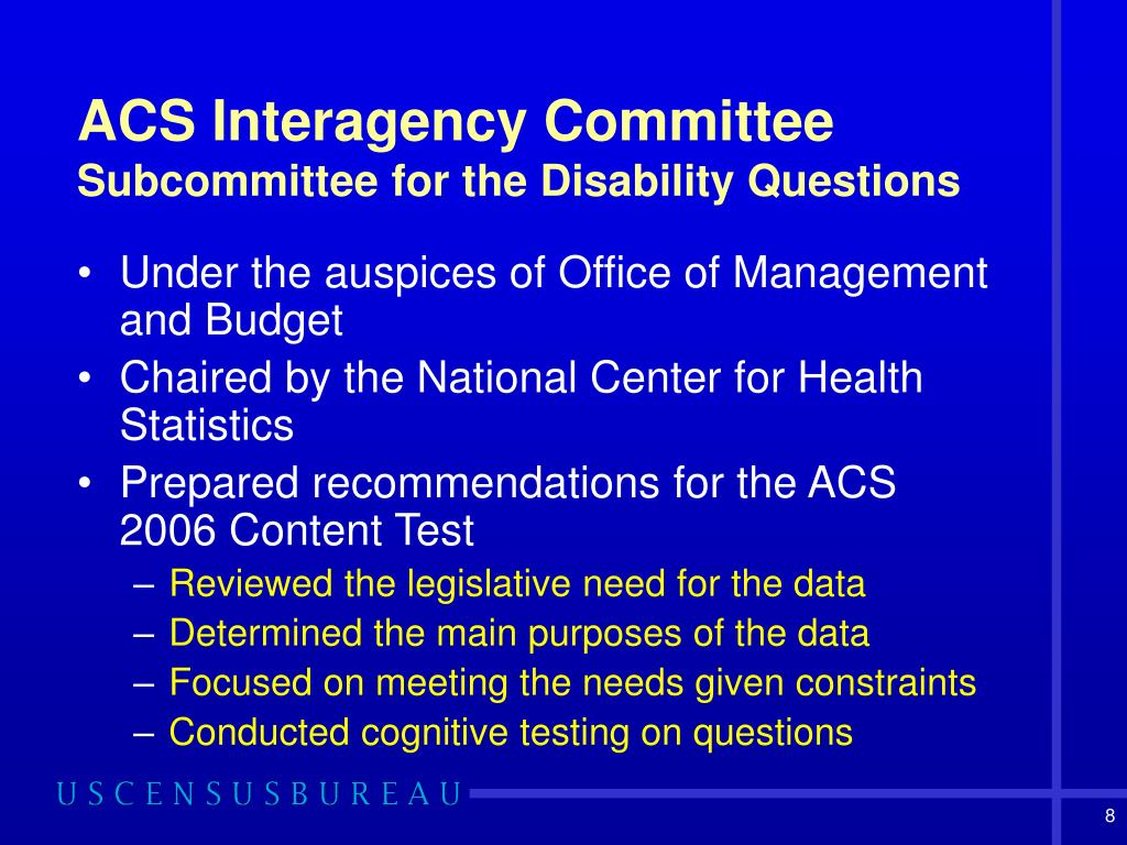 ACS Interagency Committee