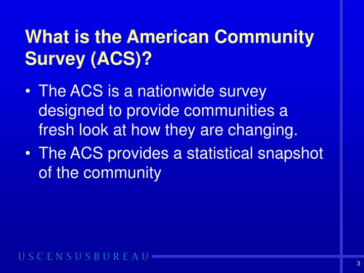 What is the american community survey acs