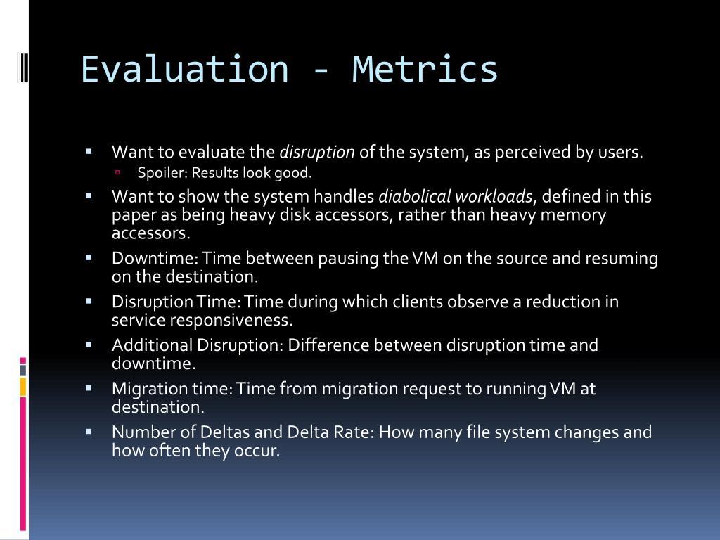 Evaluation - Metrics