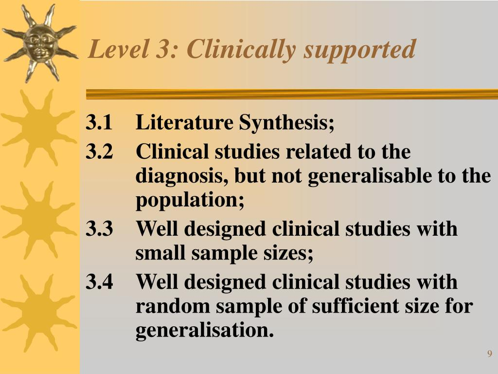 Level 3: Clinically supported