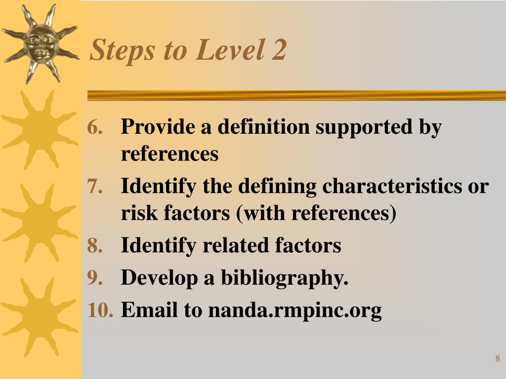 Steps to Level 2