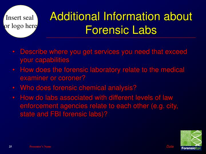 Additional Information about Forensic Labs