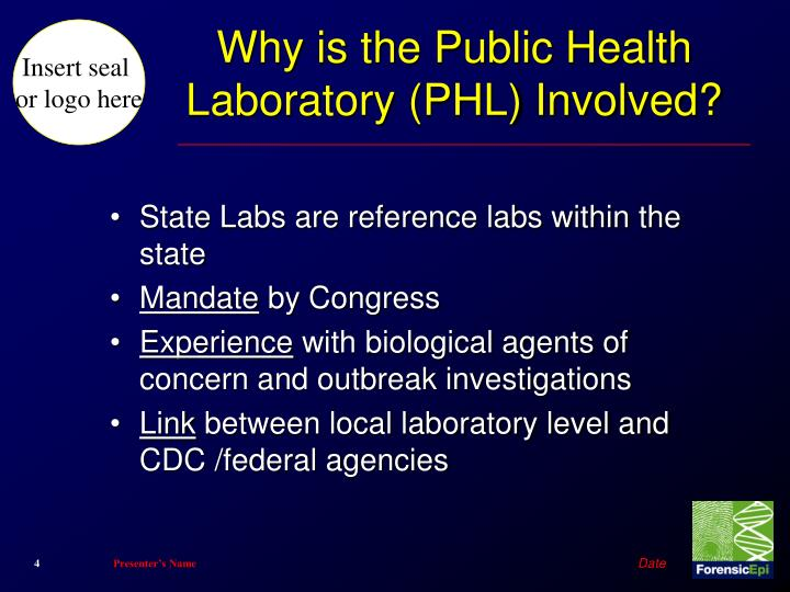 Why is the Public Health Laboratory (PHL) Involved?