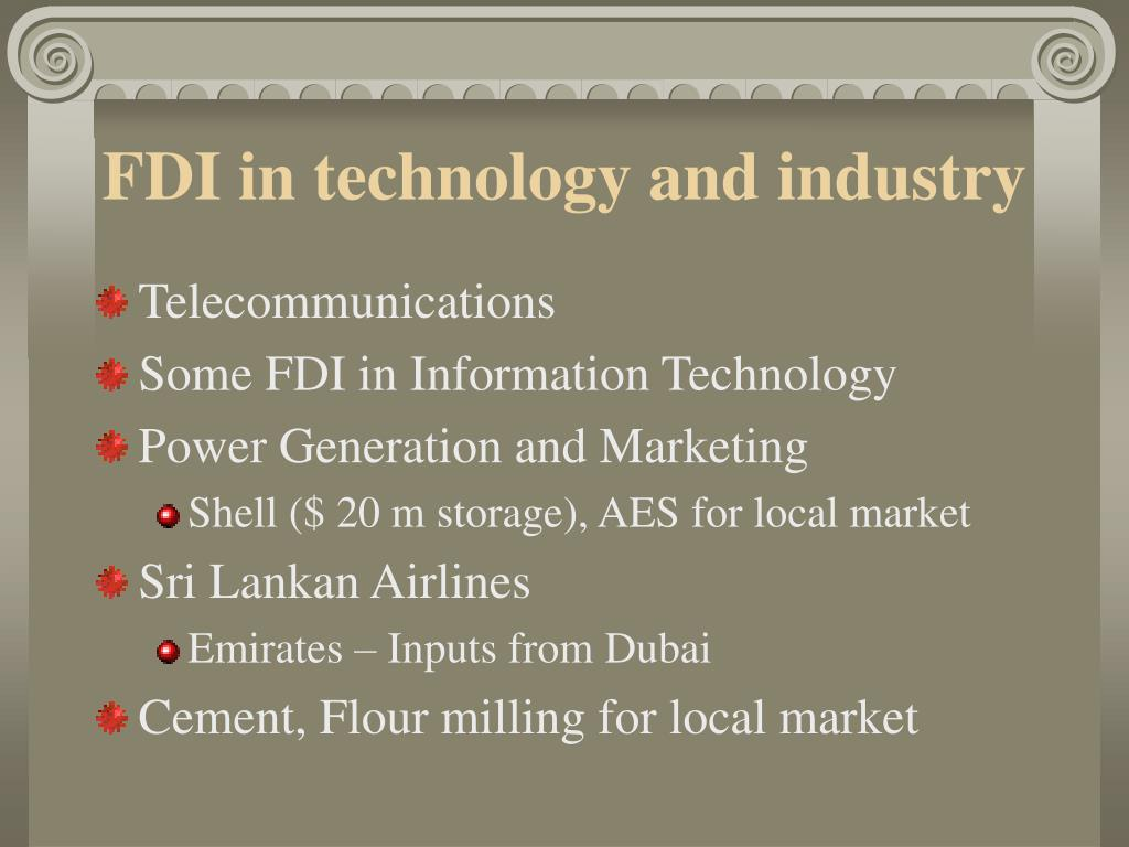 FDI in technology and industry