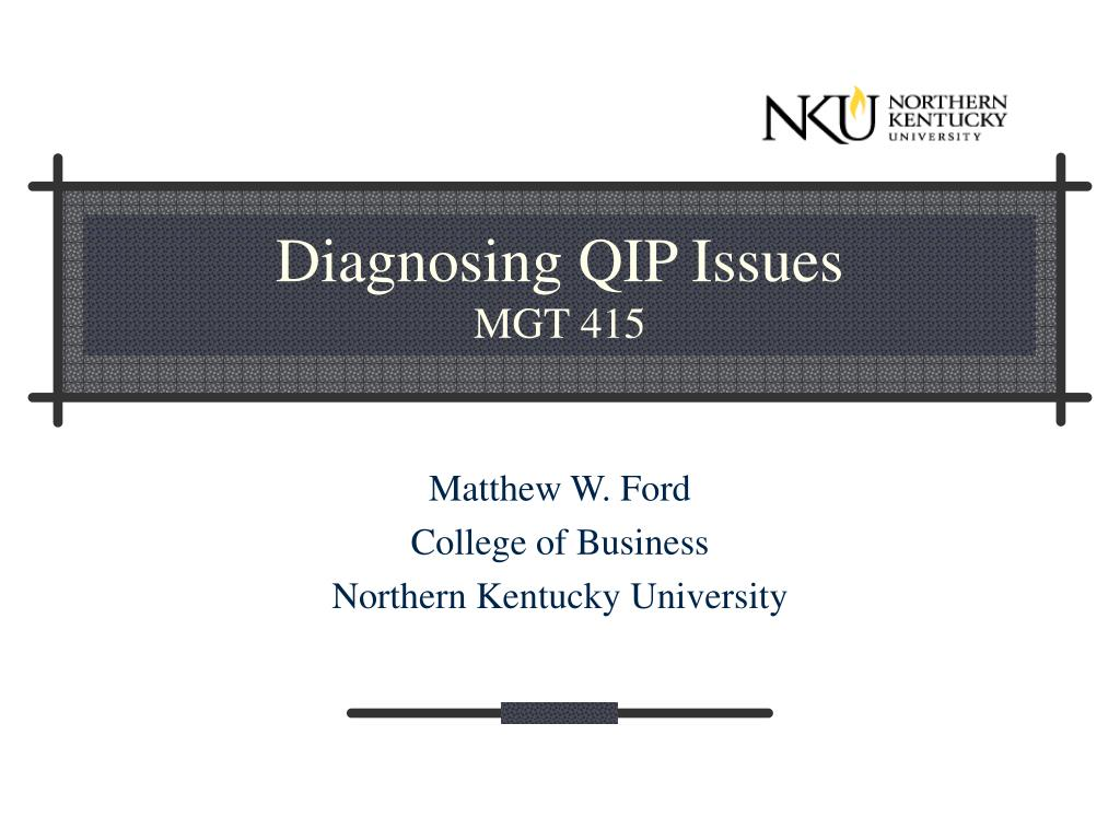 Diagnosing QIP Issues