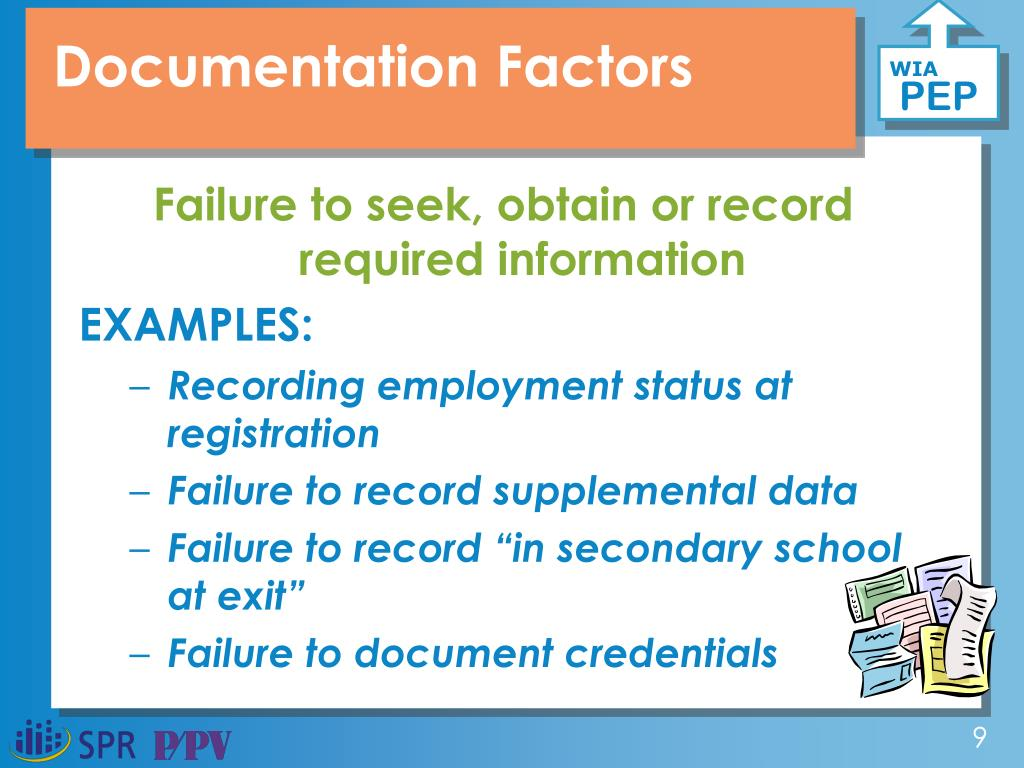 Documentation Factors