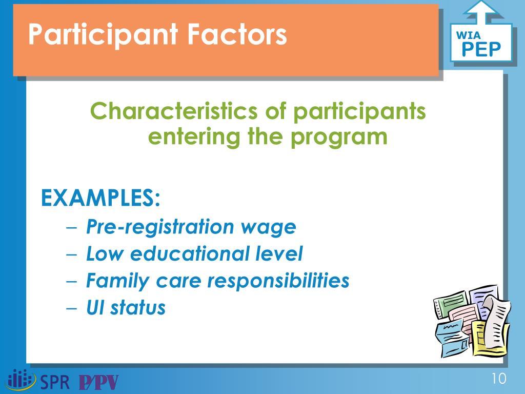 Participant Factors