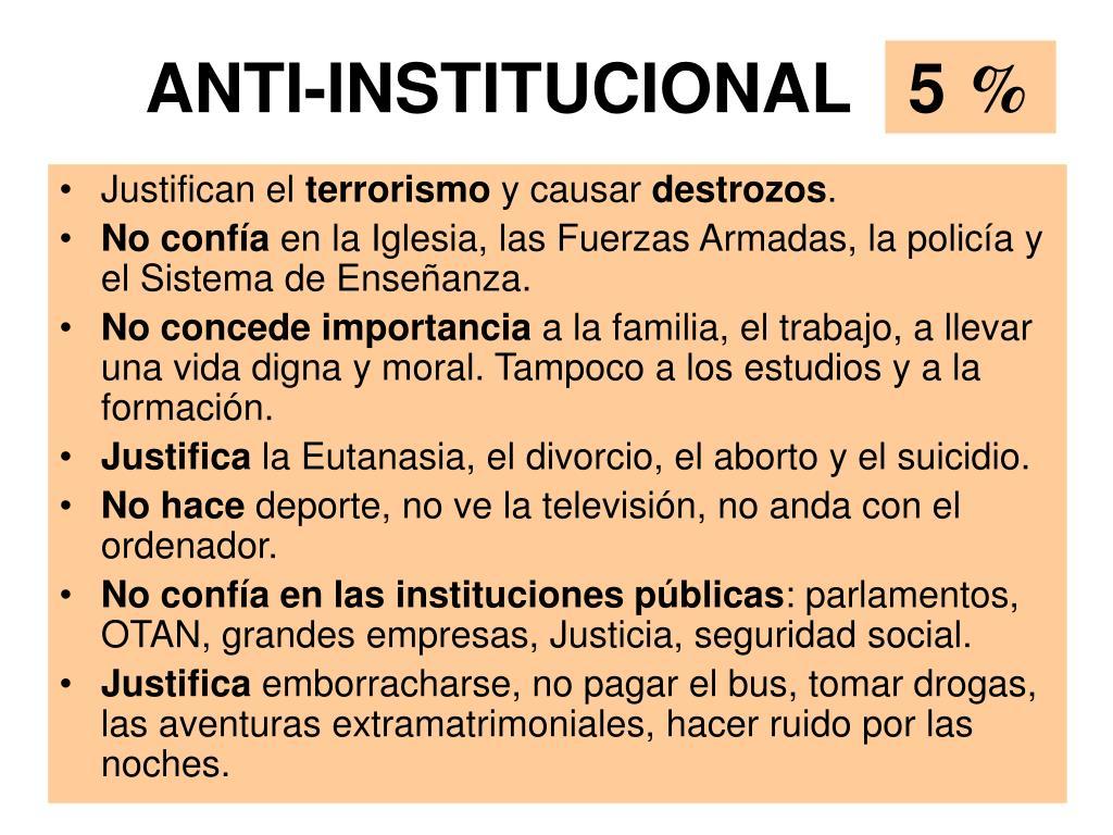 ANTI-INSTITUCIONAL