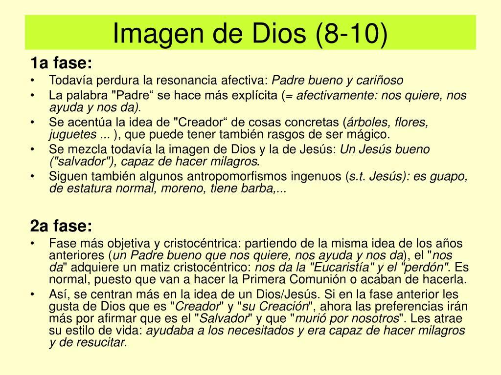 Imagen de Dios (8-10)