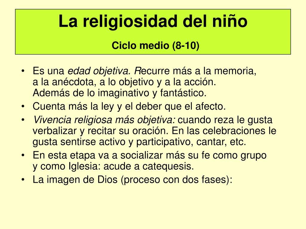 La religiosidad del niño