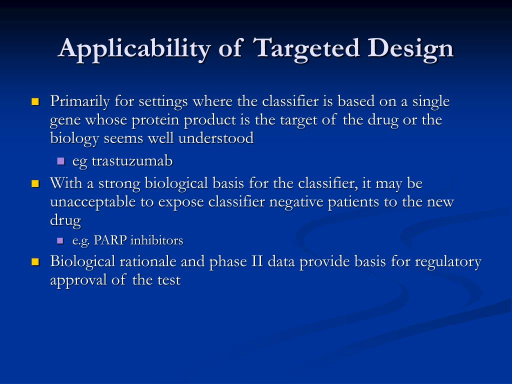Applicability of Targeted Design