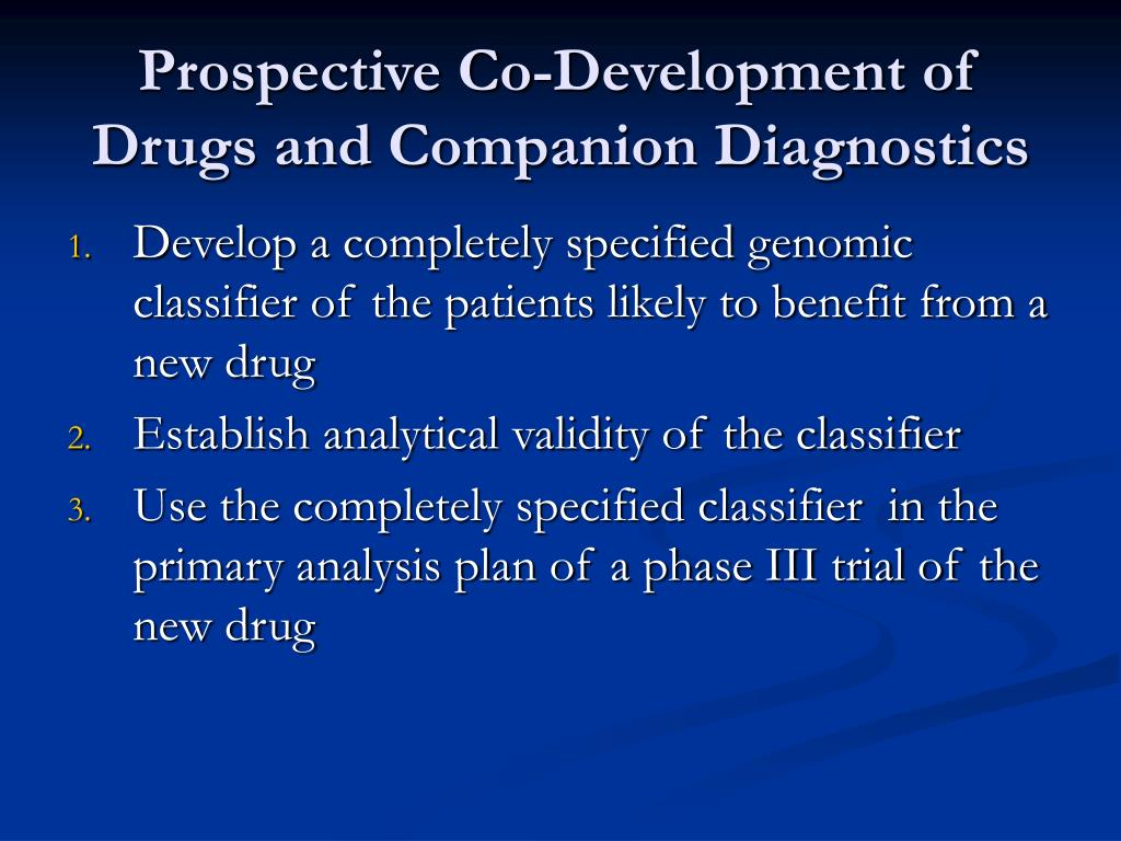 Prospective Co-Development of Drugs and Companion Diagnostics