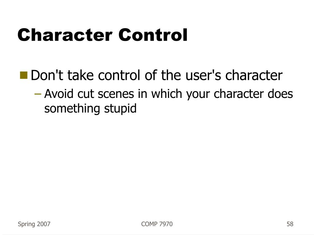 Character Control