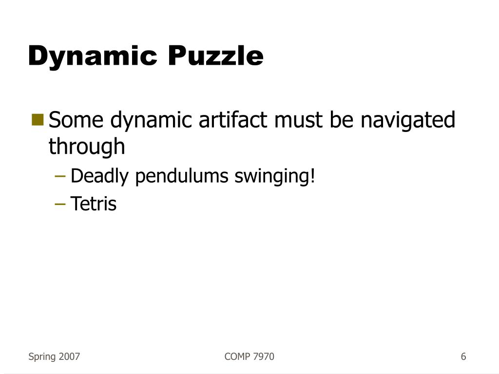 Dynamic Puzzle