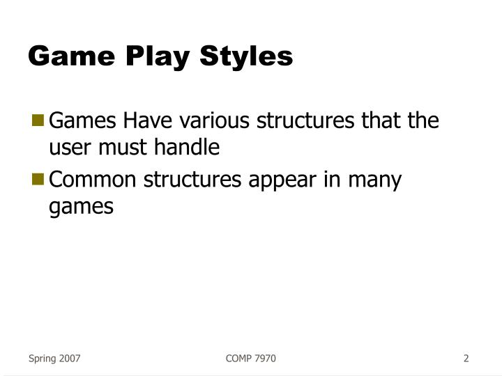 Game play styles2