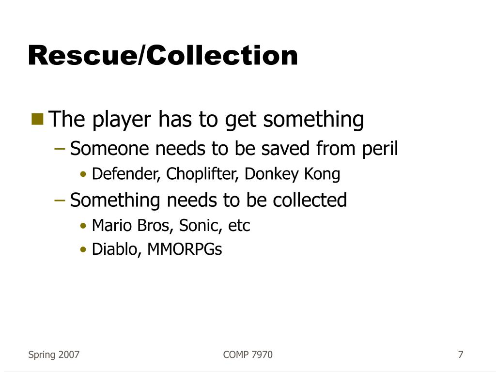 Rescue/Collection