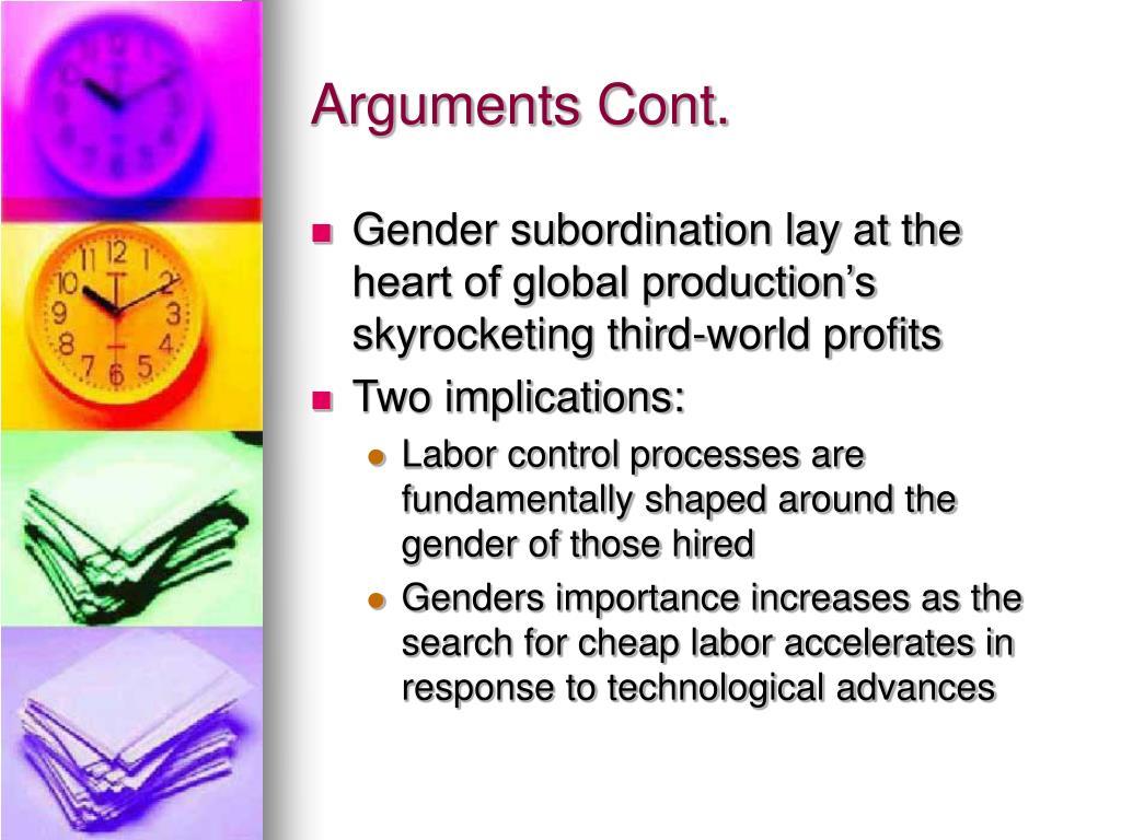 Arguments Cont.