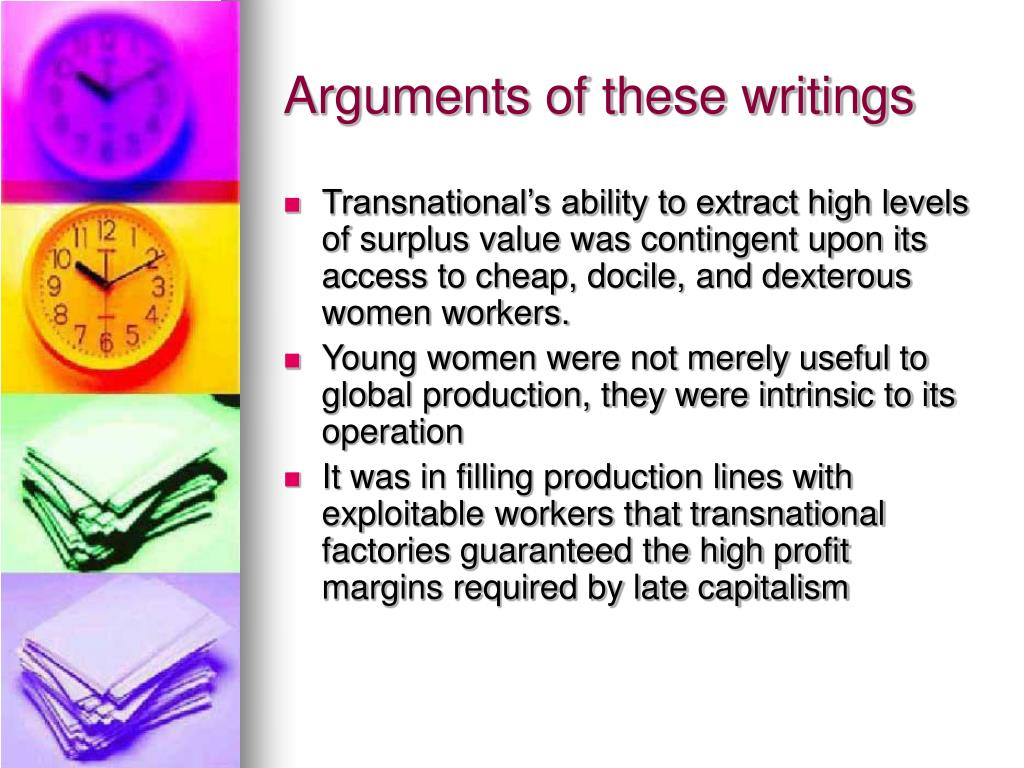 Arguments of these writings