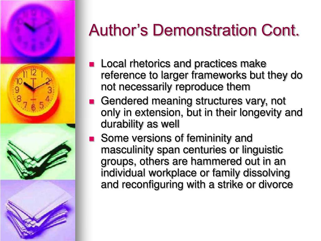 Author's Demonstration Cont.