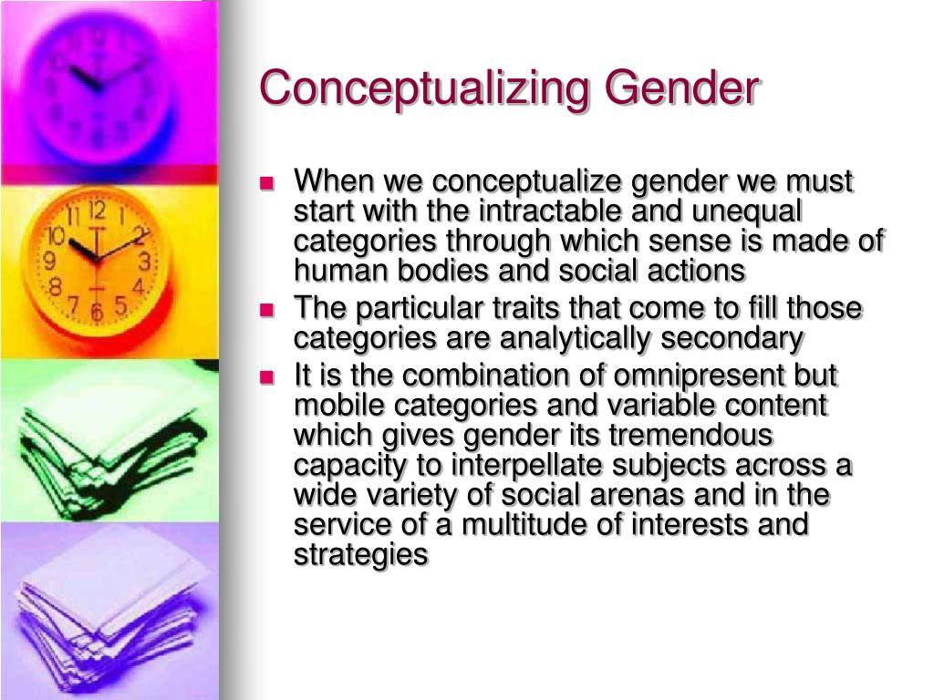 Conceptualizing Gender