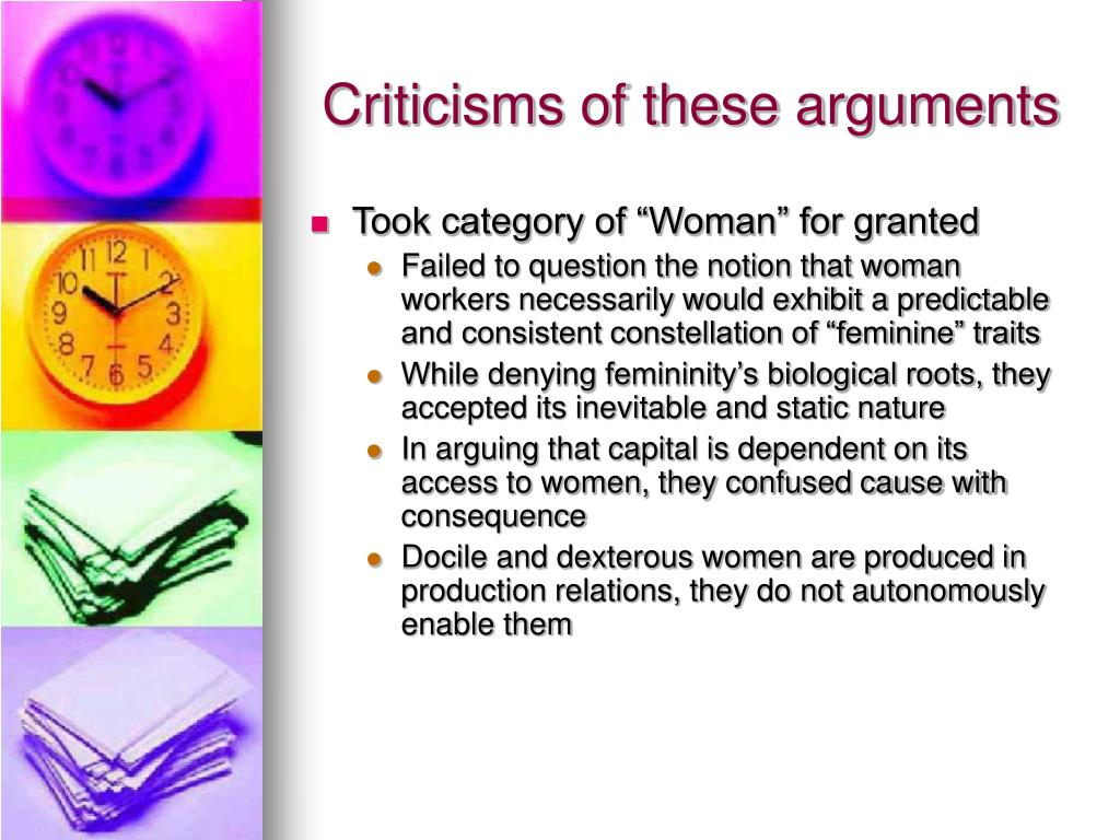 Criticisms of these arguments