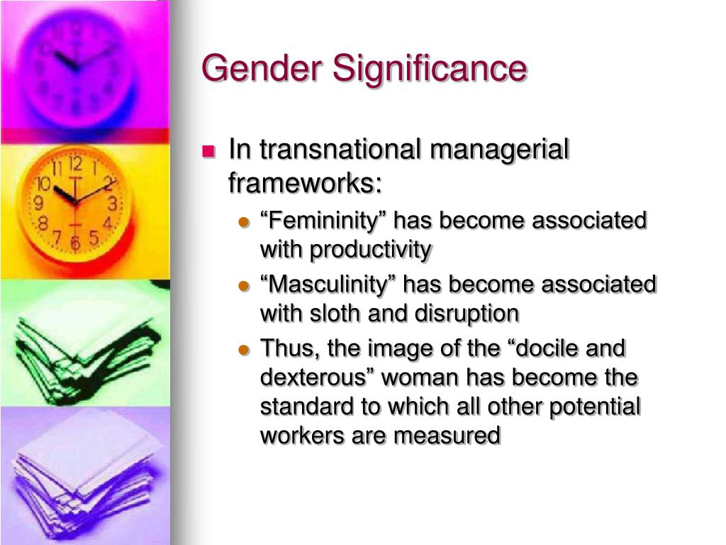 Gender Significance