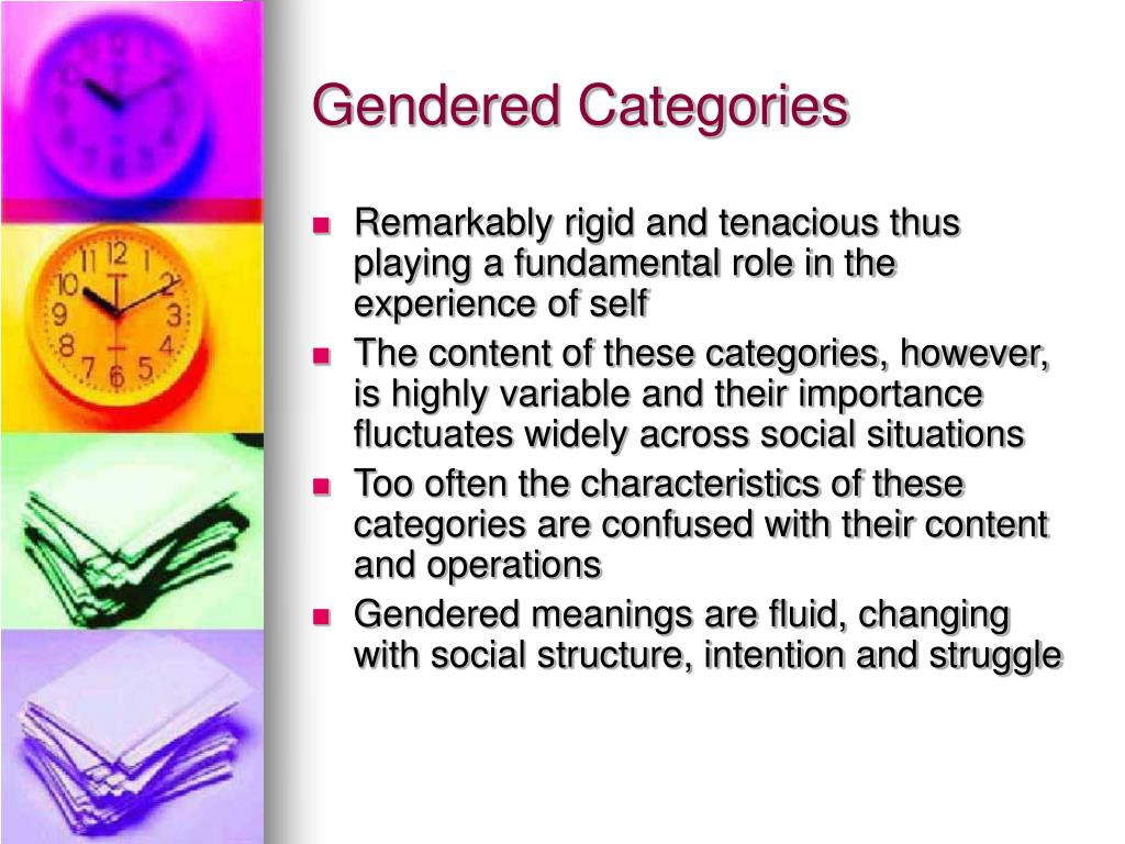 Gendered Categories