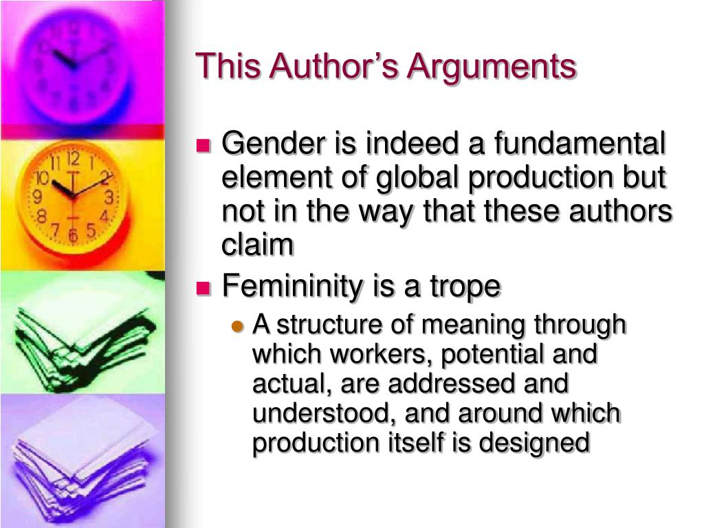 This Author's Arguments