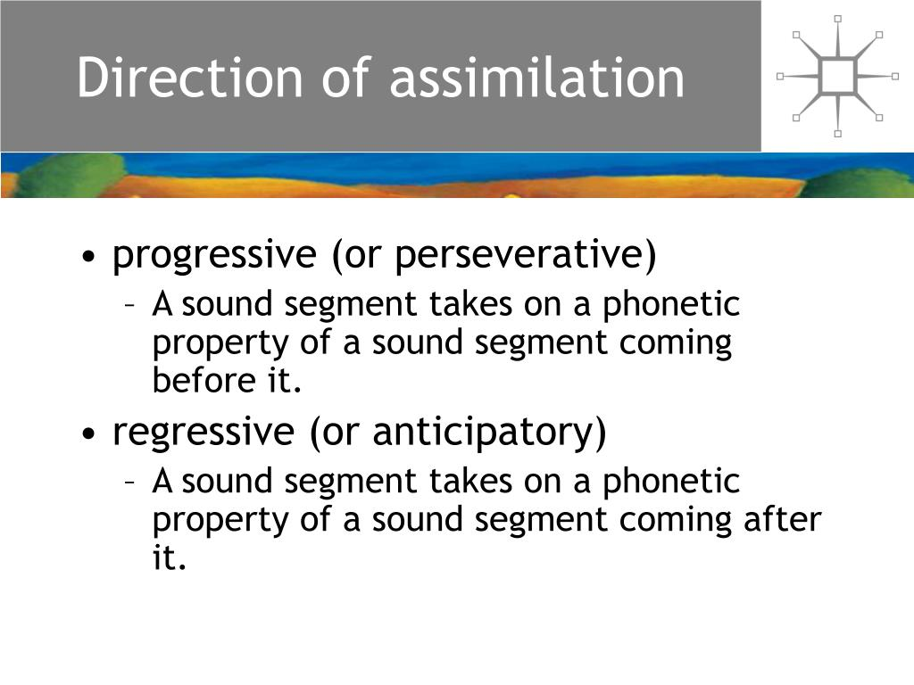 Direction of assimilation