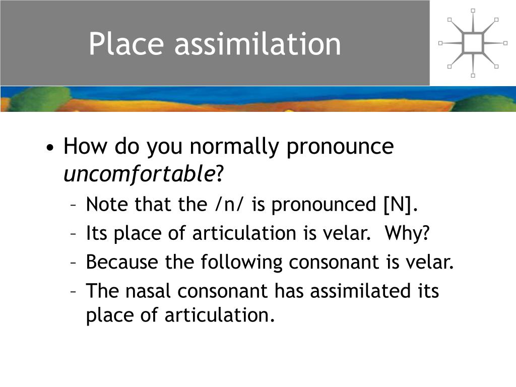 Place assimilation