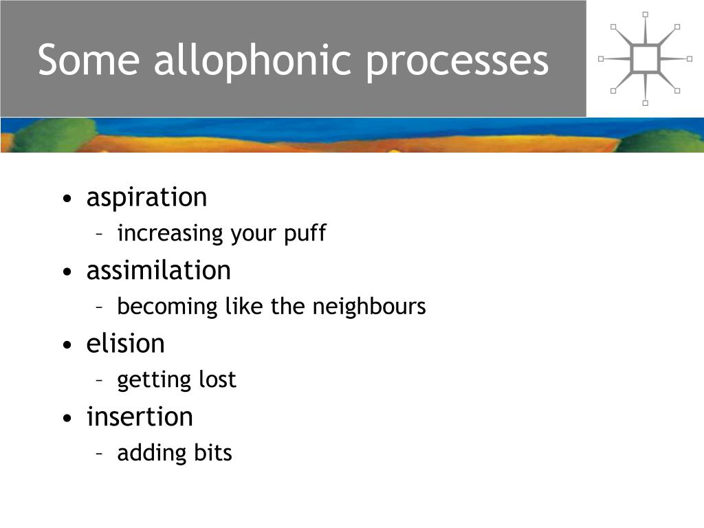 Some allophonic processes