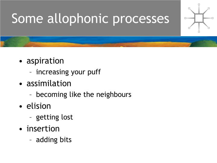 Some allophonic processes l.jpg