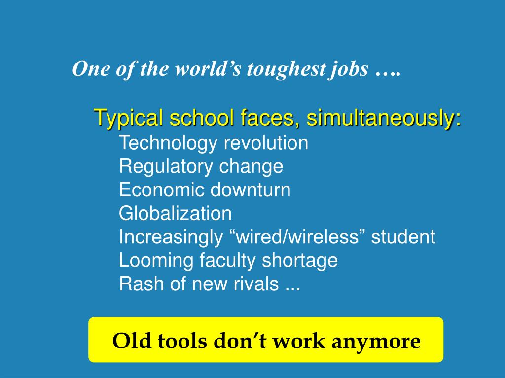 One of the world's toughest jobs ….