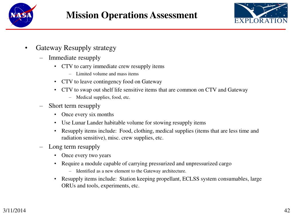 Mission Operations Assessment