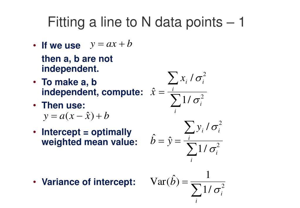 Fitting a line to N data points – 1