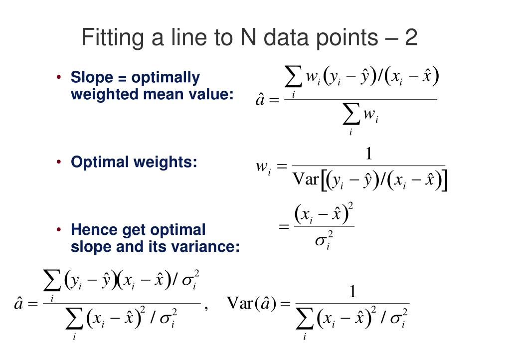 Fitting a line to N data points – 2