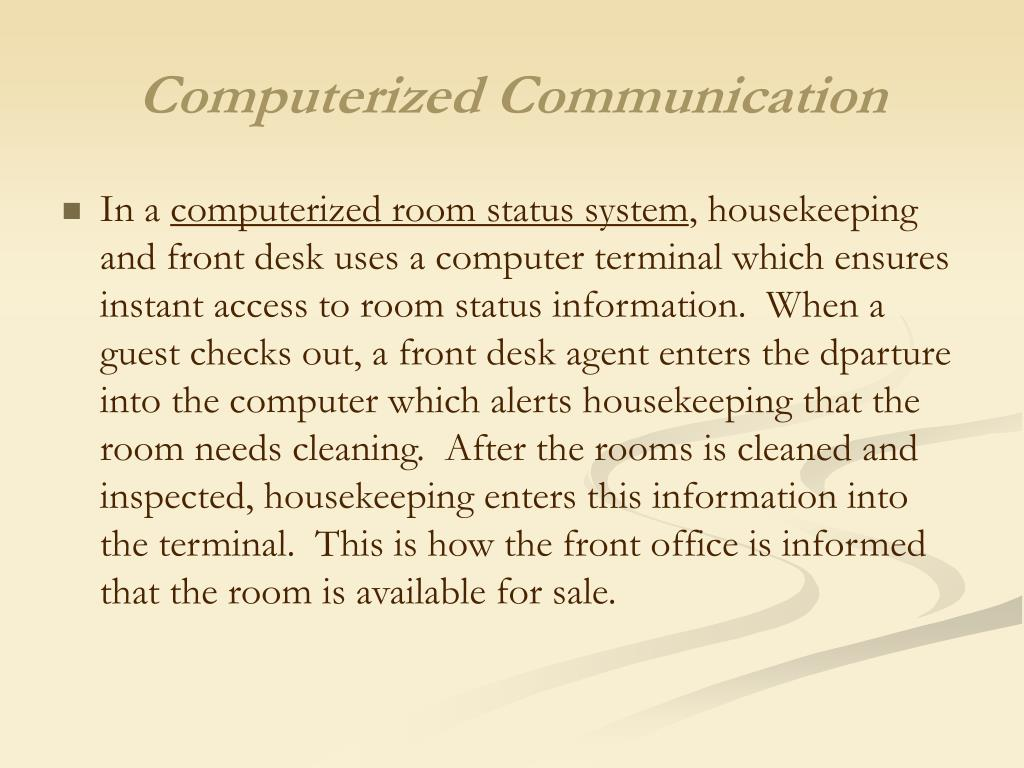 Computerized Communication