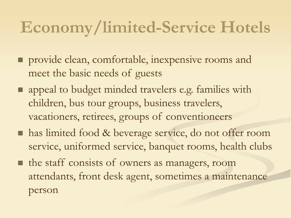 Economy/limited-Service Hotels