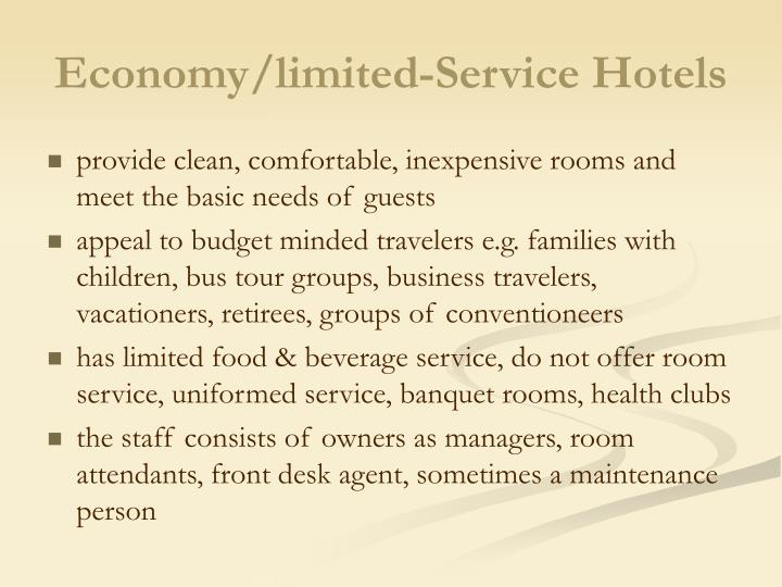 Economy limited service hotels