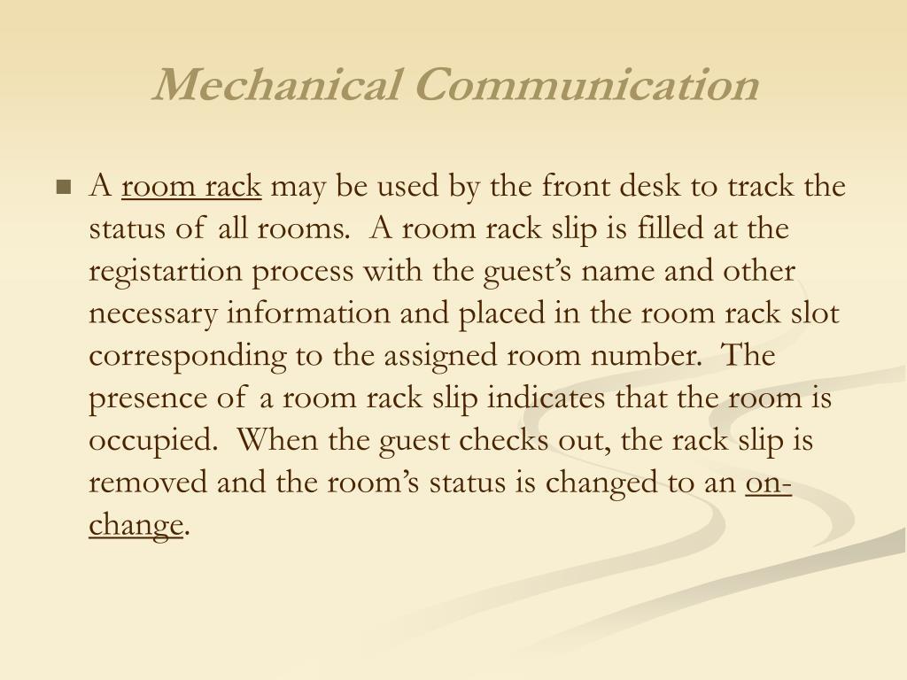 Mechanical Communication