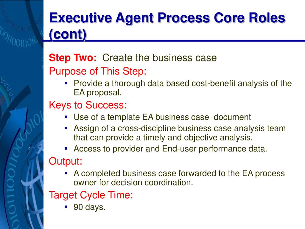 Executive Agent Process Core Roles (cont)