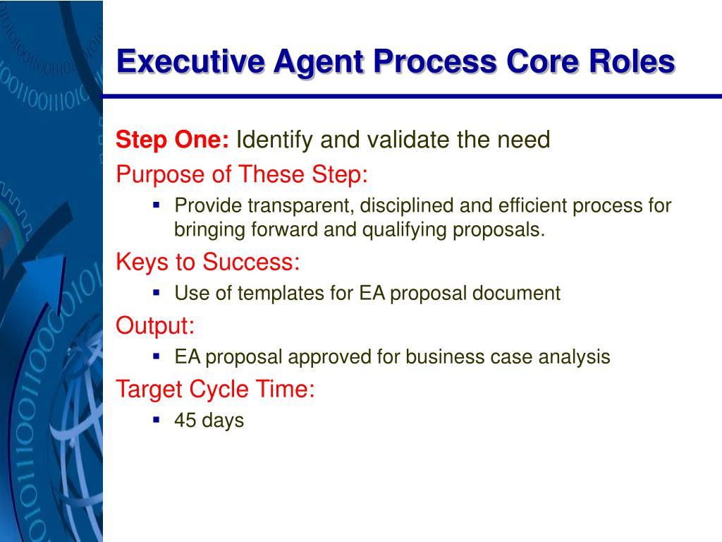 Executive Agent Process Core Roles