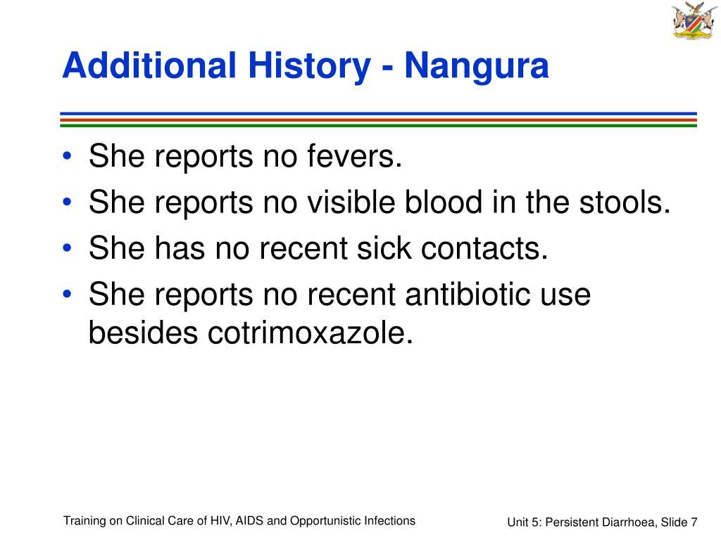 Additional History - Nangura