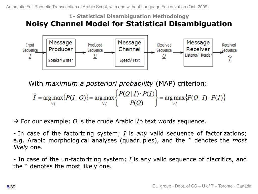 1- Statistical Disambiguation Methodology