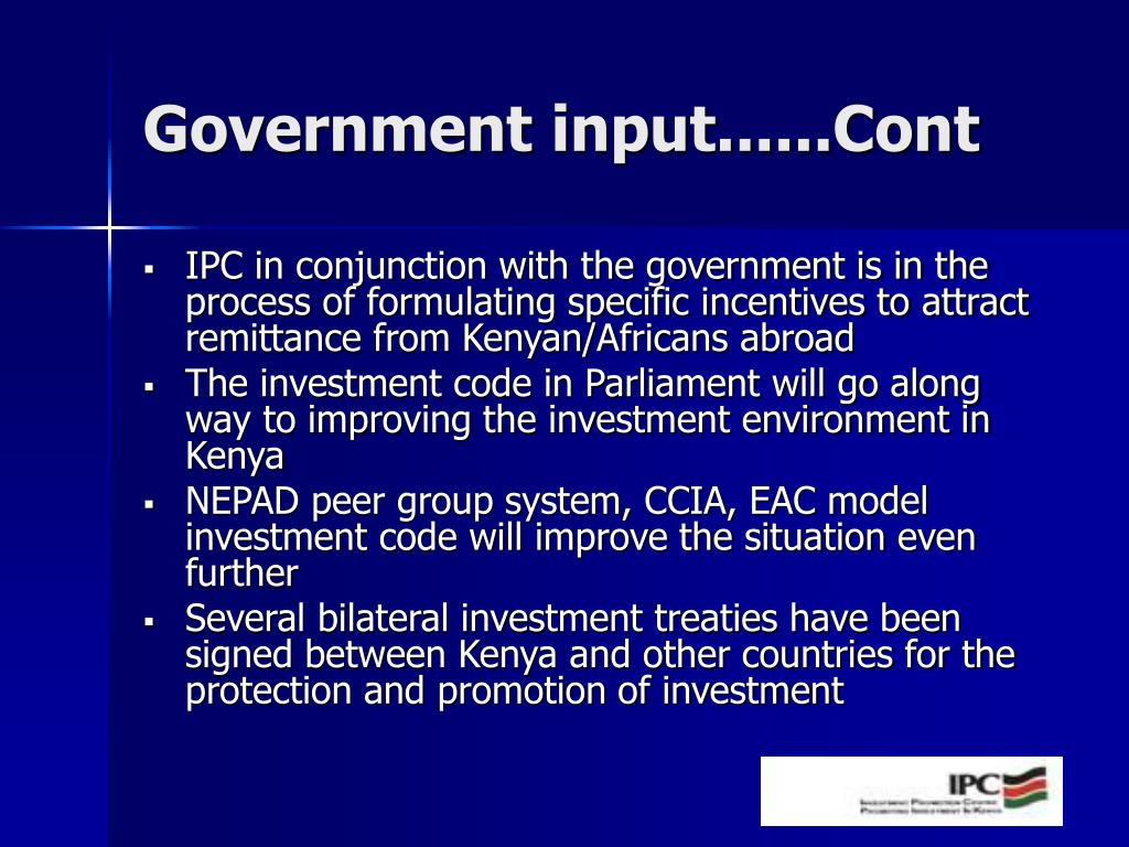Government input......Cont