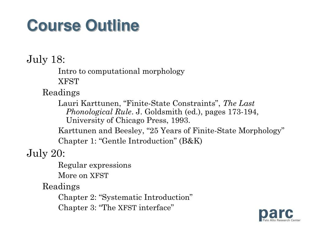 course outline ungs