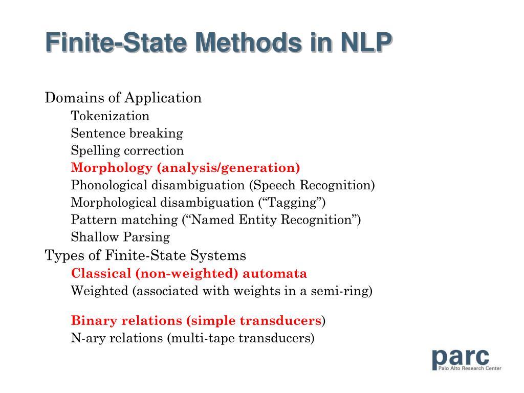 Finite-State Methods in NLP